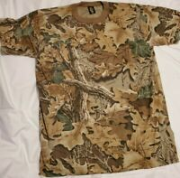 ADVANTAGE TEE SWING CAMOUFLAGE CAMO TREE LEAVES HUNTING T SHIRT LARGE