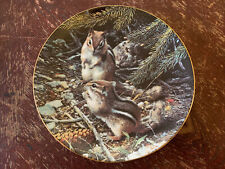 """""""Beneath The Pines"""" By Carl Brenders, 1990 ~Our Woodland Friends Collector Plate"""