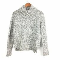 Madewell Monochrome Flecked Chunky Cosy Roll Neck Sweater Jumper Small 8 10