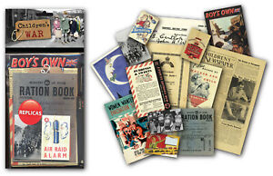 Children's War Memorabilia Gift Pack with over 20 pieces of Replica Artwork