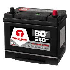 Asia Autobatterie 12V 80Ah 650A/EN + Plus Pol Rechts Japan KFZ statt 70Ah 57029