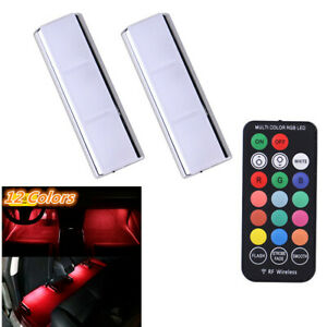 Wireless Remote Magnetic Suction Car Interior Atmosphere Ambient Lamp Foot Light