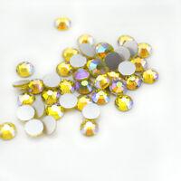 Citrine AB Swarovski Crystals rhinestone gems flat back non hotfix for nails