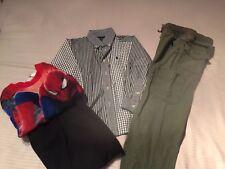 Lot of 3 Boys Pj Spider-Man 4/5 Ralph Lauren Striped Shirt 4T, Pr Green Pants