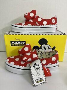 Vans Authentic Gore Disney Minnie's Bow Skate Shoes Size 2 Little Kids