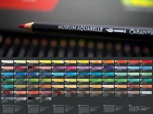 Caran d'Ache Museum Aquarelle Artists Quality Water Colour Pencil Full Range