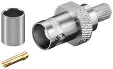 50 x BNC-Crimpkupplung mit Goldpin für RG 59/U Kabel