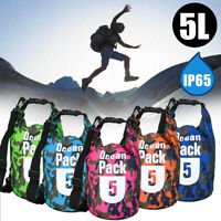5L Dry Bag Backpack Pouch Camouflage Waterproof Boating Camping Outdoor  -)
