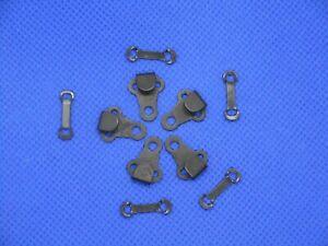 5 Stück Haken und Ösen Hosenhaken Verschluß schwarz  15 mm