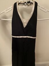 Halter Black Sleeveless Ice Skating Dress Adult Small