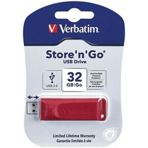 Verbatim VTM96806 Store N Go 32GB USB 2.0 Red Flash Drive