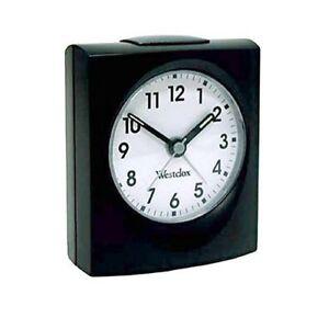 Westclox Black Echo Quartz Clock 47311