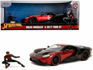 1:24 Miles Morales (Spider Man) w/ 2017 Ford GT -- Marvel The Avengers JADA