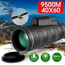 40X60 Dual Focus Optics Monocular Starscope HD Waterproof Telescope Night Vision