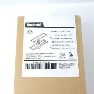 """Neodrain 12"""" Linear Shower Drain ZA3-12-T02-BR 12Lx3.35Wx2.75H"""""""