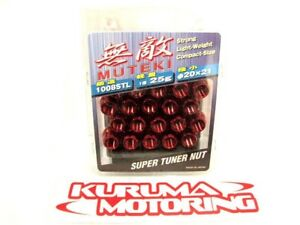 MUTEKI RED OPEN END 12X1.5 LUG NUTS SET OF 20 #1