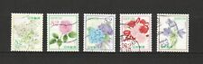 JAPAN 2018 'OMOTENASHI' (HOSPITALITY) FLOWERS SERIES 10 82 YEN SET 5 STAMPS USED
