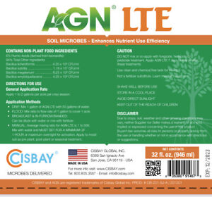 CISBAY AGN LTE Soil Microbes-Enhances nutrient - short root plants (32 fl. oz.)