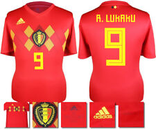 R. LUKAKU 9 - BELGIUM HOME 2018 WORLD CUP ADIDAS SHIRT SS = KIDS