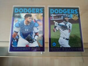 Bellinger & Ruiz -  Dodgers  - 2021 Topps Purple Chrome Silver 1986 cards /75