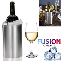 Wine Cooler Ice Bucket Double Walled Insulated Stainless Steel Brushed Finish