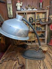 Vintage Goose Neck Infra red heater Cast Iron base Steam Punk Working