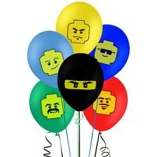 """12 x LEGO 12""""/30cm LATEX BALLOONS - FREE DELIVERY  SAME DAY DISPATCH - UK SELLER"""