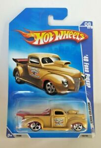 Hot Wheels 2009 Modified Rides 08/10  '40 Ford Pickup  Gold  W/ 5 Hole Wheels