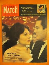 Paris Match 521 du 4/4/1959-Soraya & Orsini-Ce que De Gaulle a dit et n'a pas di
