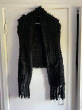 Real Fur Black Gilet One Size