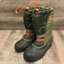 Sorel Women's Winter Boots Green Mid Calf Pull On Drawstring US 7/ EUR 39