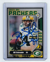 PACKERS Bill Schroeder signed card AUTOGRAPHED 2000 Police #14 Green Bay AUTO