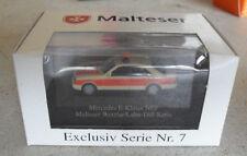 RARE Herpa Malteser HO 1/87 Mercedes E Klasse NEF Notarzt Emergency Car NIP