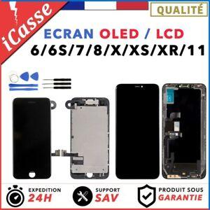 ECRAN BLOC COMPLET VITRE TACTILE LCD OLED SUR CHASSIS IPHONE 6 6S 7 8 X XS XR 11