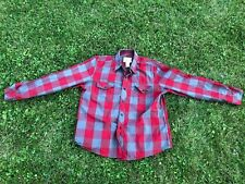 Vintage Op Ocean Pacific Men's Red Gray Plaid Long Sleeve Button Down Shirt XL