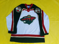 Authentic On-ice jersey Minnesota Wild Jersey retro CCM mens 52 white with green