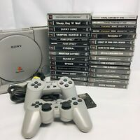 Sony PlayStation One PS1 26 Super Rare Game Console Bundle PAL & 2 Controllers