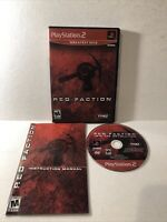 Red Faction Greatest Hits (Sony PlayStation 2, 2002) PS2 Complete CIB Tested