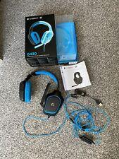 Logitech G430 Black/Blue Headband Headsets for PC
