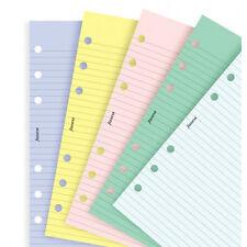 Filofax Personal Assorted Coloured Notepaper Plain Ampruled Refill Insert 130502 J