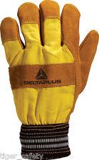 Delta Plus Venitex DF132 brown cuir doublé chaud gants de travail rigger docker EPI