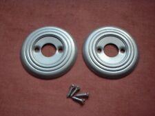 2 X 60 mm de diámetro stoved pomo de plata placa trasera// rosas/RIM/perillas de bloqueo/Vidrio