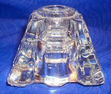 Vintage Cut Glass Crystal Pillar Candle Holder, Pillar Holders