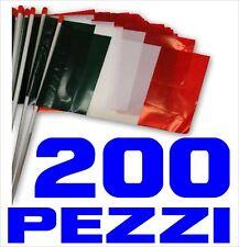EUROPEI CALCIO bandierina ITALIA plastica 200 PEZZI asta cm 30 x 20 COREOGRIA