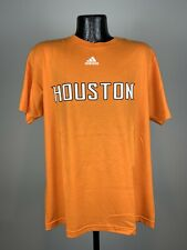 Men's Adidas MLS Houston Dynamo Orange Graphic Logo SS Cotton Tee Large NWOT
