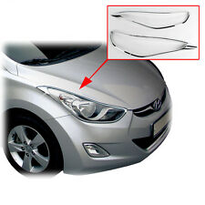 Chrome Front Head Light Lamp Cover Molding 2p For 2011 2013 Hyundai Elantra MD
