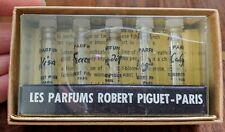 VINTAGE ROBERT PIGUET 5 SAMPLE SIZE MINIATURE perfume bottle for COLLECTORS