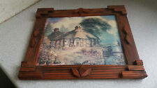 VINTAGE EMBOSSED WOODEN PICTURE FRAME 12 X 10 INCH
