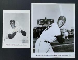 Willie McCovey Wilson Advisory Staff 8x10 & Jay Publishing 5x7-Baseball-Giants