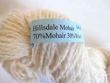 1 Skein Hillsdale Mohair Yarn Natural Ivory Hand Spun Mohair/Wool Fast Shipping